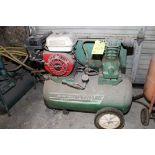 PORTABLE AIR COMPRESSOR, SPEEDAIRE, gasoline pwrd., air receiver