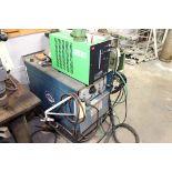 TIG WELDER, MILLER DIALARC HF AC/DC, S/N HH043560, w/Everlast Mdl. WRC-300A cooling radiator, S/N