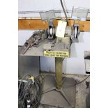 DRILL SHARPENER,  DAREX, 2 HP, 3,450 RPM, 115 v./4.2a/60 Hz, pedestal mtd.