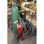 LOT OF TORCH CARTS, (1) w/bottles, gauges, hose & accessories