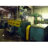 PP/HDPE FLAT YARN EXTRUSION LINE, YAO-TA MDL. YT-100, new 1996, 60 HP main extruder drive motor;