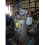 VERTICAL AIR COMPRESSOR, CAMPBELL-HAUSFELD, 100 gal. tank, 5 HP motor