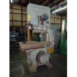 "VERTICAL WOODWORKING BANDSAW, NORTHFIELD 36"", approx. 3,000 lb. cap., 5 HP motor, 460v/3 ph/60 Hz"
