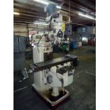 """VERTICAL TURRET MILL, ACER ULTIMA MDL. 4VK, 10"""" x 50"""" table, harden & ground ways, variable"""