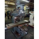 """VERTICAL TURRET MILL, LAGUN MDL. FTV4, new 1985, 11"""" x 58"""" table, pwr. feed in all directions,"""