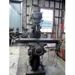 """VERTICAL KNEE MILL, MAXMILL, 42"""" x 9"""" table, 3 T-slots, 0.625"""" on 2.5"""" centers, R8 spdl., ("""