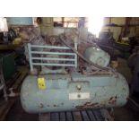 HORIZONTAL AIR COMPRESSOR, 100 gal. tank, 15 HP motor