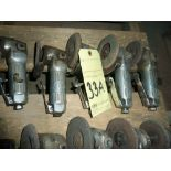 LOT OF RIGHT ANGLE PNEUMATIC GRINDERS