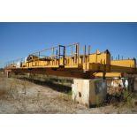 OVERHEAD BRIDGE CRANE, LANDEL 20 T. X APPROX. 67' SPAN, dbl. box girder, top riding, pendant