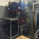 4-POST HYDRAULIC PRESS, FEMCO 250 TON CAP, no visible I.D. plate, UNDER POWER, S/N N.A.   (