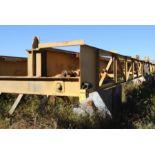 OVERHEAD BRIDGE CRANE, LANDEL 10 T. X APPROX. 51' SPAN, dbl. girder, top riding, pendant control, AC