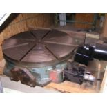 """CNC 4th AXIS ROTARY TABLE, TROYKE, Mdl. NC 30LPH CS360, 30"""" Table with General Numeric Control"""