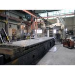 """OPEN SIDE PLANER, ROCKFORD 60"""" X 217"""", 60"""" x 217"""" table, (2) airlift rail heads, (1) airlift side"""