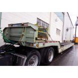 TRAILER, LANDOLL HAUL-ALL, new 1997, 77,000 lb. G.V.W.R., all axles, bar grate steel deck w/extra