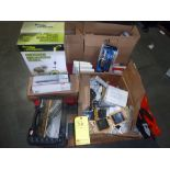 """LOT OF HAND TOOLS: pipe wrenches, vise grips, torch kits, measuring wheels, 1/4"""" drive socket"""