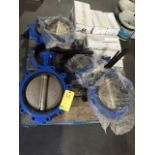 LOT OF VALVES: water & butterfly, assorted  LOCATED IN HOUSTON, TX