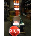 SAFETY BARRIER KIT, w/cones, red safety chain, stop sign & danger signs  LOCATED IN HOUSTON, TX
