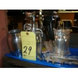 LOT OF CUP SPRAY GUNS, assorted