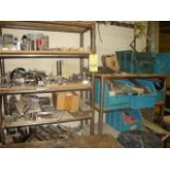 LOT CONSISTING OF WELDED PIPE RACK SECTIONS (2), w/contents of steel