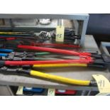 LOT OF BOLT CUTTERS (4), assorted