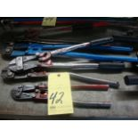 LOT OF BOLT CUTTERS (5), assorted