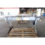 TABLE TOP CONVEYOR, CONFAB SYSTEMS MDL. CFS, 4-1/2W. x 66L. Deltrin, variable spd. drive