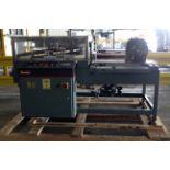 AUTOMATIC L-BAR SHRINK WRAPPER REWINDER UNIT, SHANKLIN MDL. A27A new 2002, PLC controls, S/N A0241