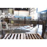 CONVEYOR, ALLFILL 8', new 2003, stainless steel, guardrails, Plexiglas top, 3.25 poly table top