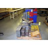 LOT OF STORAGE PANS & SMALL RACKS  (on two pallets)