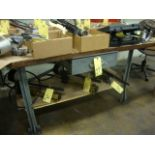 """LAMINATED WOOD TOP WORKBENCH, 36"""" x 72"""" (may not be taken until tooling has been removed)"""