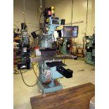 "CNC VERTICAL TURRET MILL, PROTOTRAK MDL. K3SX, Prototrak SMX 2-axis CNC control, 10"" x 50"" table,"