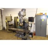 """VERTICAL TURRET MILL, BRIDGEPORT SERIES 1, 9"""" x 48"""" table, pwr. feed, chrome ways, 2-axis D.R.O.,"""