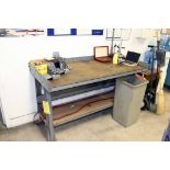 LOT CONSISTING OF WORKBENCH, OILY RAG CONTAINER & WATER COOLER