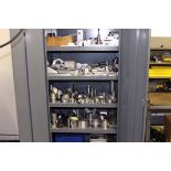 STEEL CABINET, w/mostly aluminum fixtures