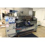 """GAP BED ENGINE LATHE, SHARP 18"""" X 60"""" MDL. 1860C, spds: 20-2000 RPM, taper attach., 2-axis D.R.O.,"""