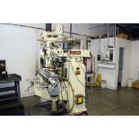 """VERTICAL TURRET MILL, ACER ULTIMA MDL. 3VRH, 10"""" x 50"""" table, hardened & ground ways, 2-axis D.R.O.,"""