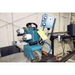 SUPER FINISHING ATTACHMENT, DYNABRADE MDL. 6400, large qty. of supply tapes & Dynabrade coolant