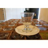 LOT OF FOOTED ROCK GLASSES, 7 oz., (178)