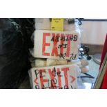 LOT OF LIGHTED EXIT SIGNS, (approx. 14)