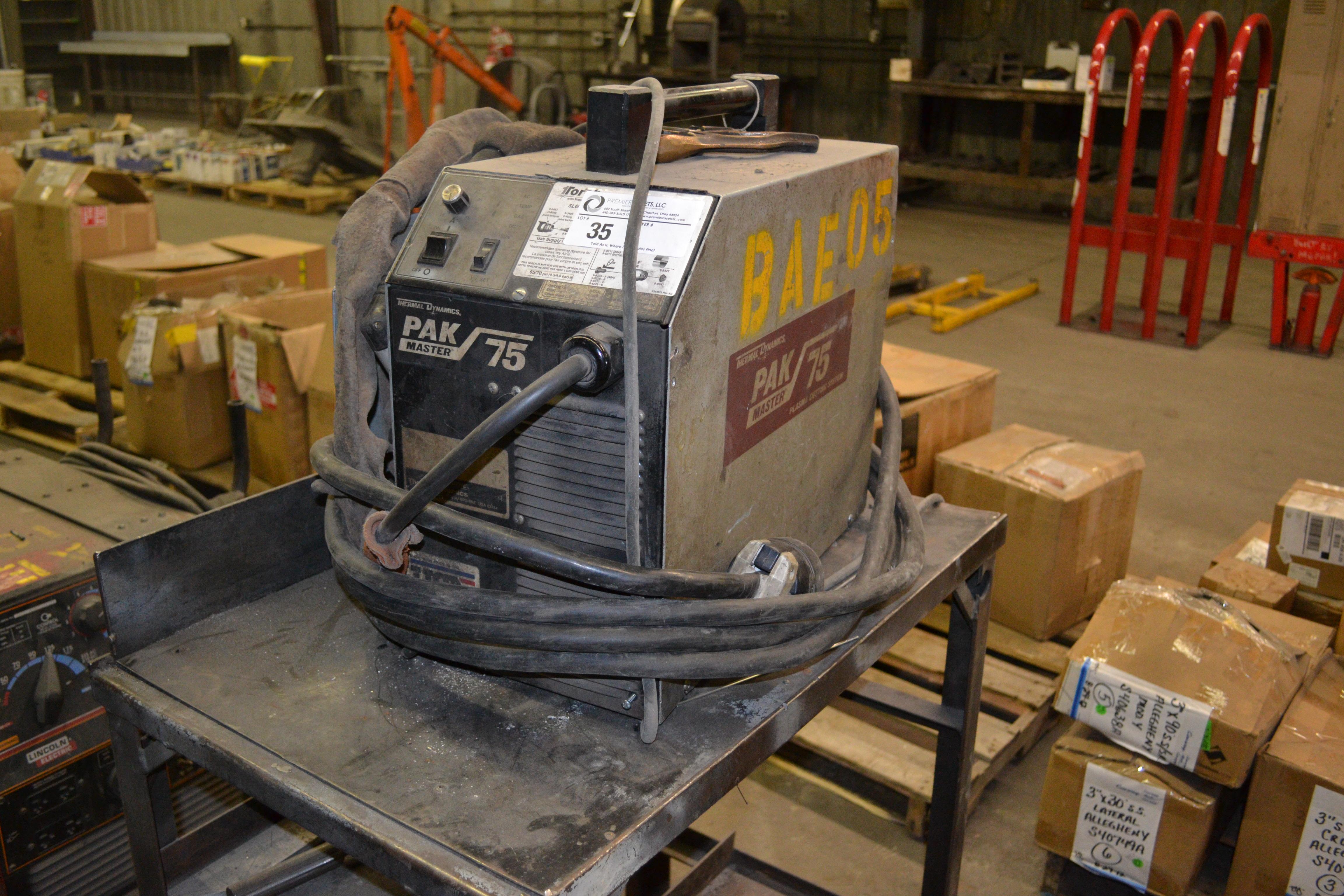 Lot 35 - Thermal Dynamics PAK Master 75 plasma cutter