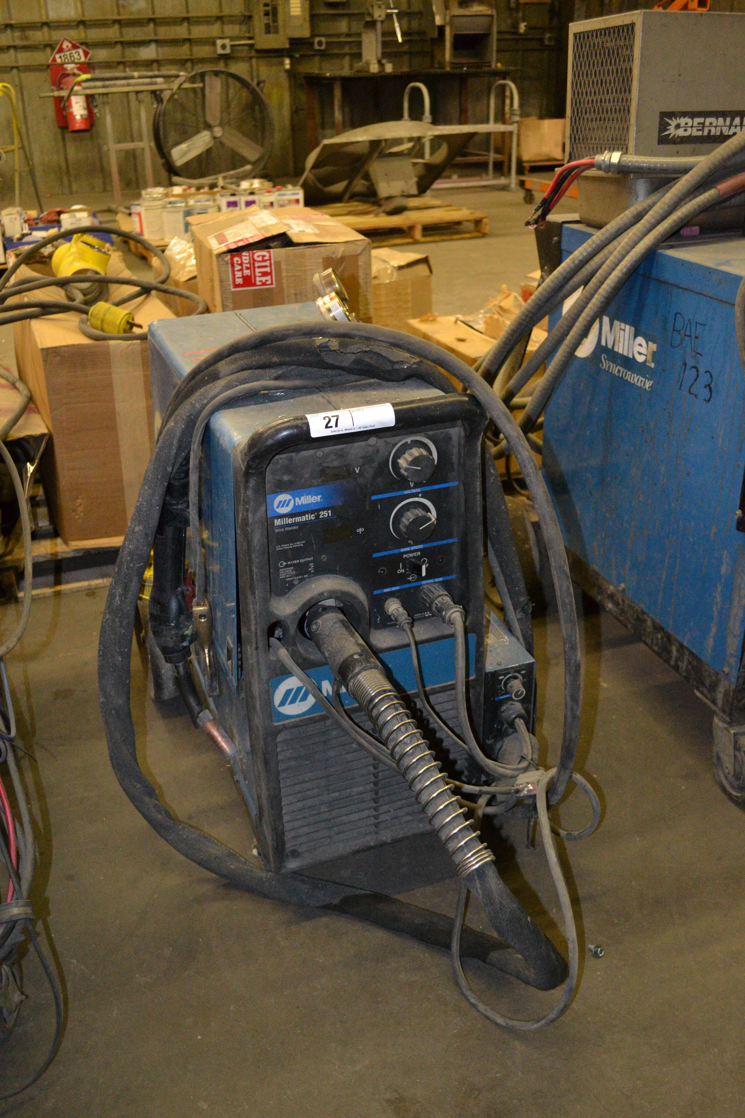Lot 27 - Millermatic 251 wire welder  SN: LC375765