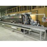 2014 Comandulli automatic multi-spindle conveyor belt polishing machine model Omega-100 8+4 DX  S/