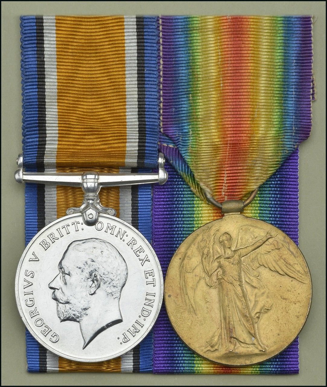 Pair: Private J. J. Moreton, Royal Welsh Fusiliers, who died on 26 November 1918 British War and