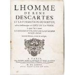 DESCARTES (René).&nbspL'homme et la formation du foetus avec les remarques de Louis de la Forge A