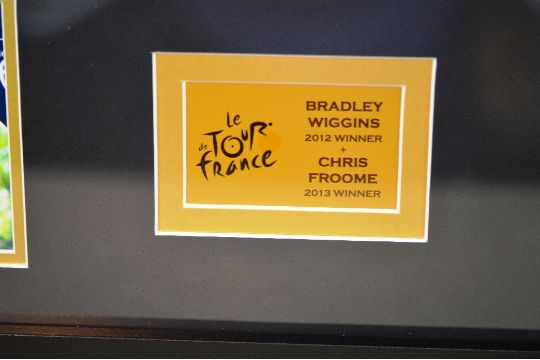 Bradley Wiggins  amp  Chris froome signed yellow jersey montage RRP ... b2018865b