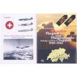 Konvolut von 2 Büchern: 1. Die Schweizer Flieger und Fliegerabwehrtruppen 1939-1945 von Werner