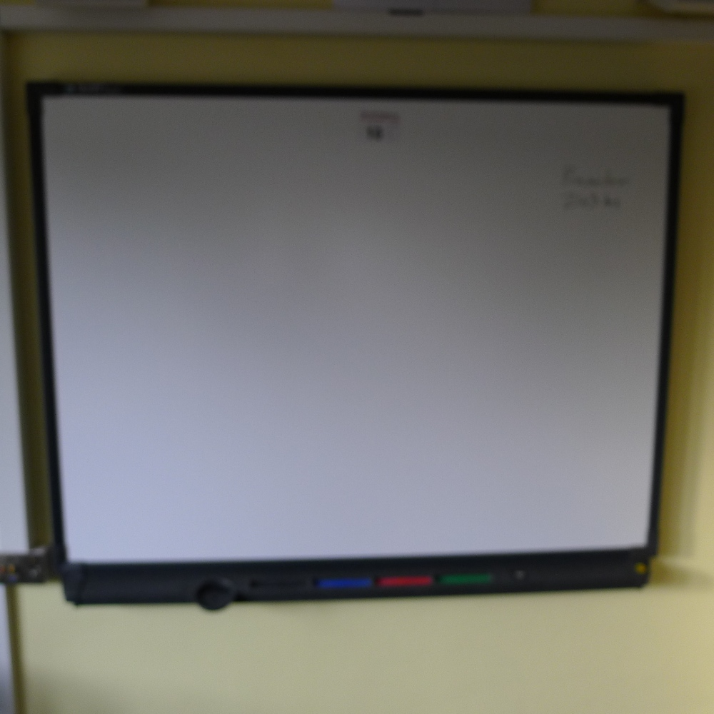 Lot 10 - 1 EPSON EB-470 overhead mounted digital short throw projector, plus an interactive SMARTBoard with