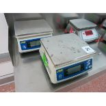 UWE digital scales, model ADM-6000, 6000 gram LIFT OUT CHARGE £5