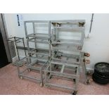 [Lot] Assorted tray dollies, aluminum and plastic frames LIFT OUT CHARGE £10