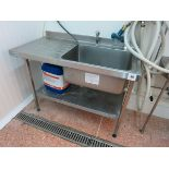 Sisson  sink, ss, 1.2m wide LIFT OUT CHARGE £20